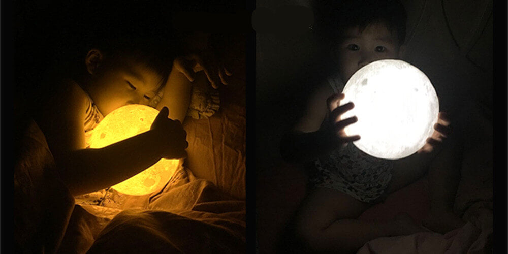3D printing moon lamp for kids
