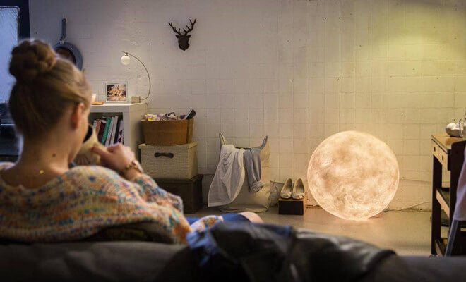 3D moon lamp in home - lunar lamps
