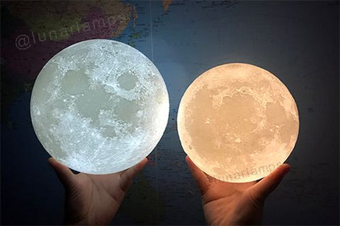 moon lamp two colors