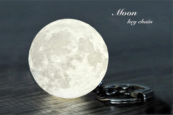 3D Moon lamp key chain