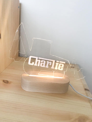 Personalised Kids LED Light.