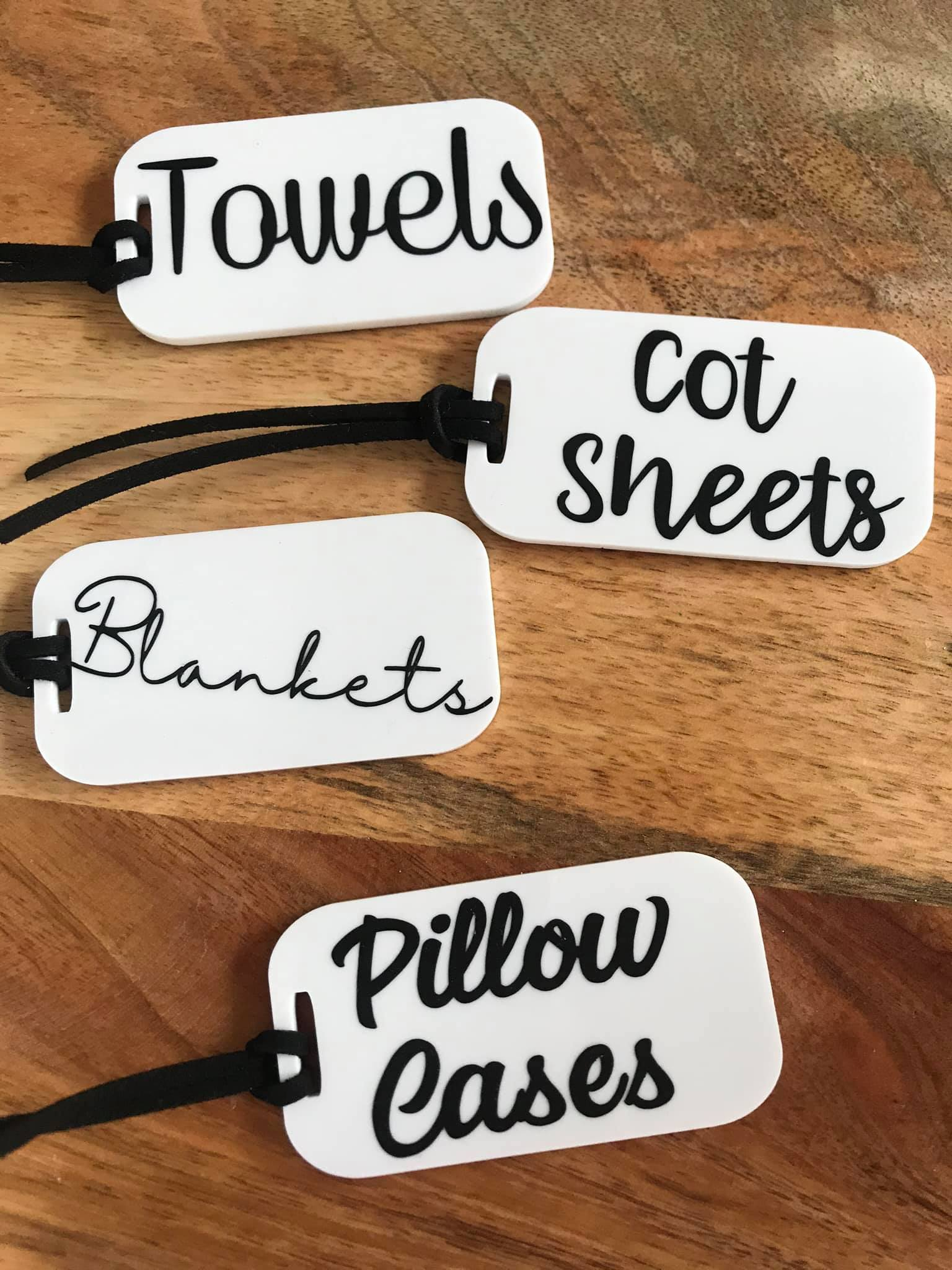 Personalised Home Organisation Tags