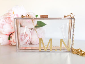 Personalised Acrylic Clear Clutch
