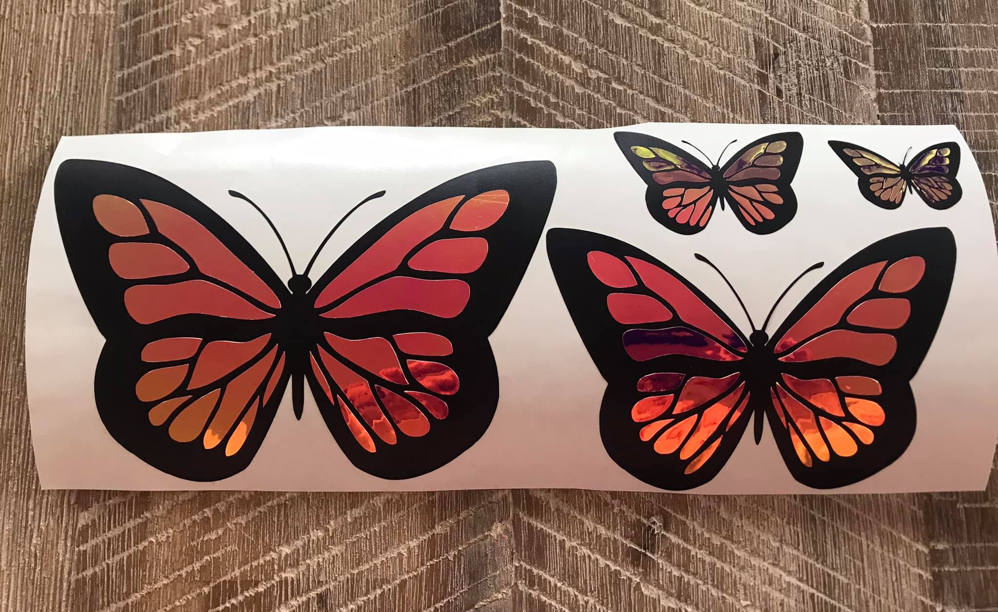 Holographic Butterfly Decals