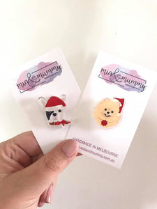 Christmas Puppy Pin