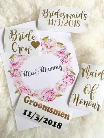 Wedding DIY  Decals