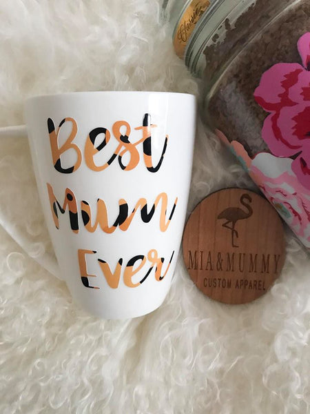 Personalised Mug With Leopard Print.