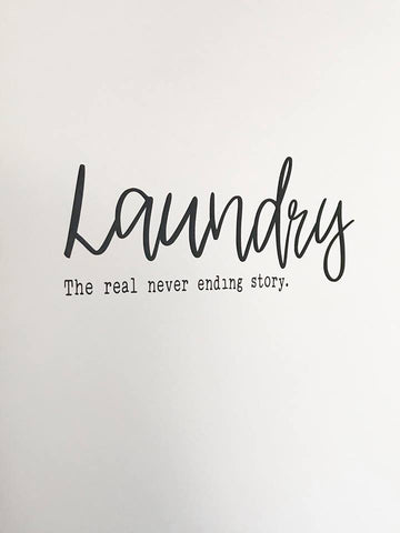 DIY Laundry Decal