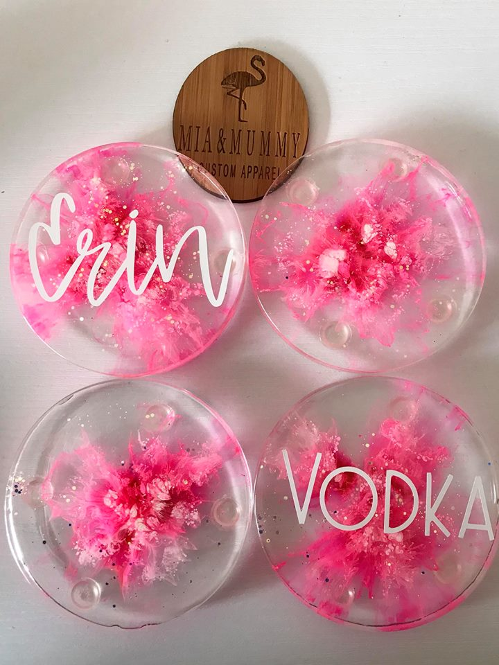 Personalised Coasters-Pink Galaxy