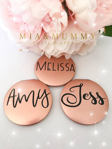 Personalised Rose Gold Compact Mirror