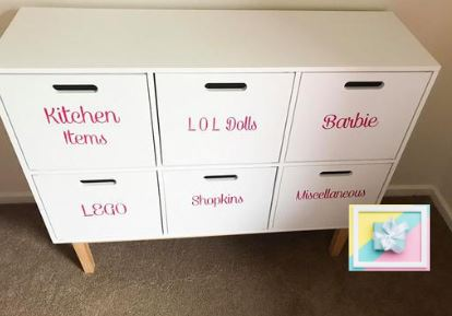 DIY Storage label Set- Decals