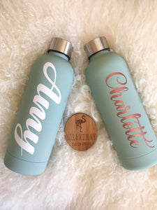 Personalised Mint Double Wall Drink Bottle