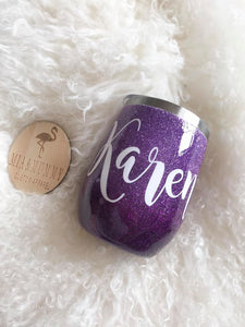 Personalised Purple Ombre Tumbler