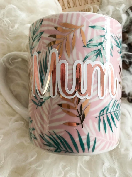 Personalised Tropical Coffee Mug