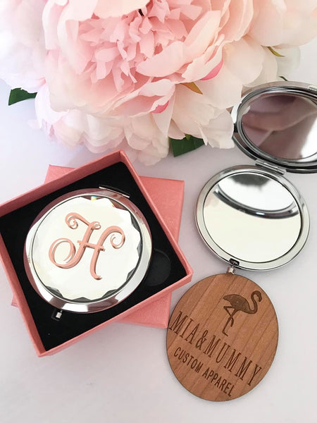 Personalised Jeweled Compact Mirror