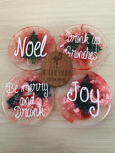 Christmas Coasters-Personalised