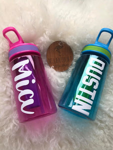 Personalised Kids Water Bottle 430ml and 650ml.