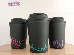 Personalised Double Wall Coffee Cup.