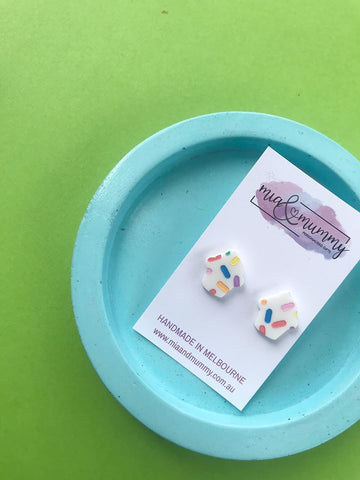 Bright Cupcake Earrings.