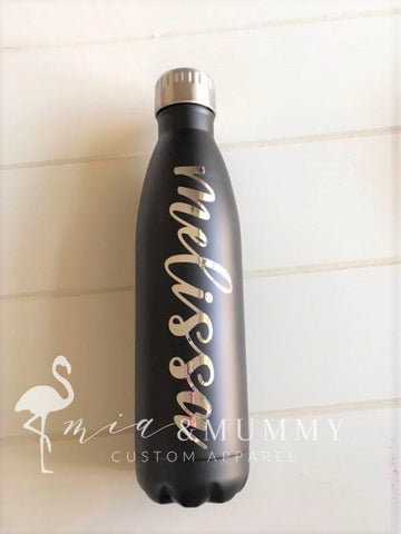 Personalised Matte Insulated Water Bottle 750ml