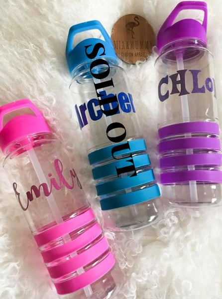 Personalised Stripe Water Bottles