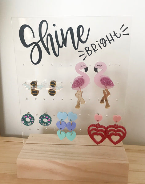 Personalised Acrylic Earring Stand