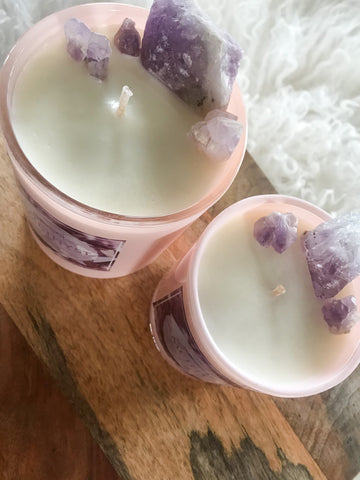 Amethyst Crystal Candle- The Wine God
