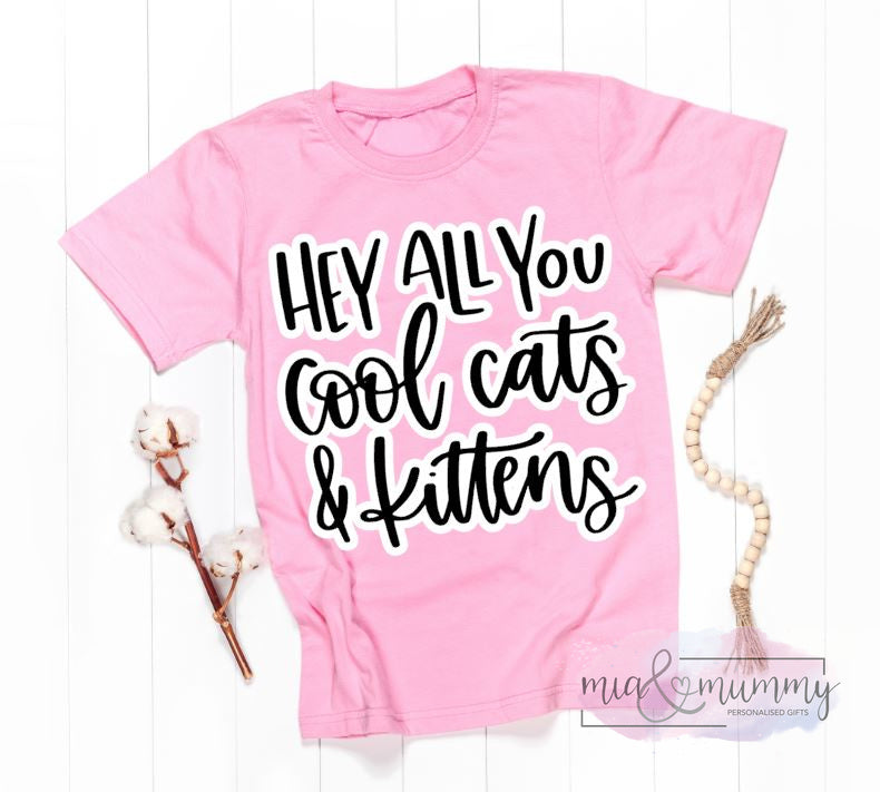 Pink Cool Cats T-Shirt Unisex Style