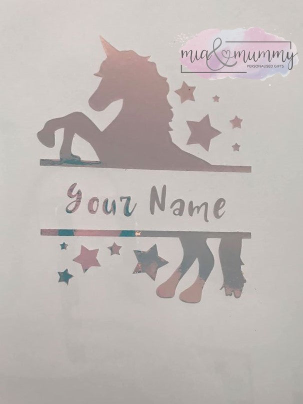 Unicorn Holographic Decal DIY