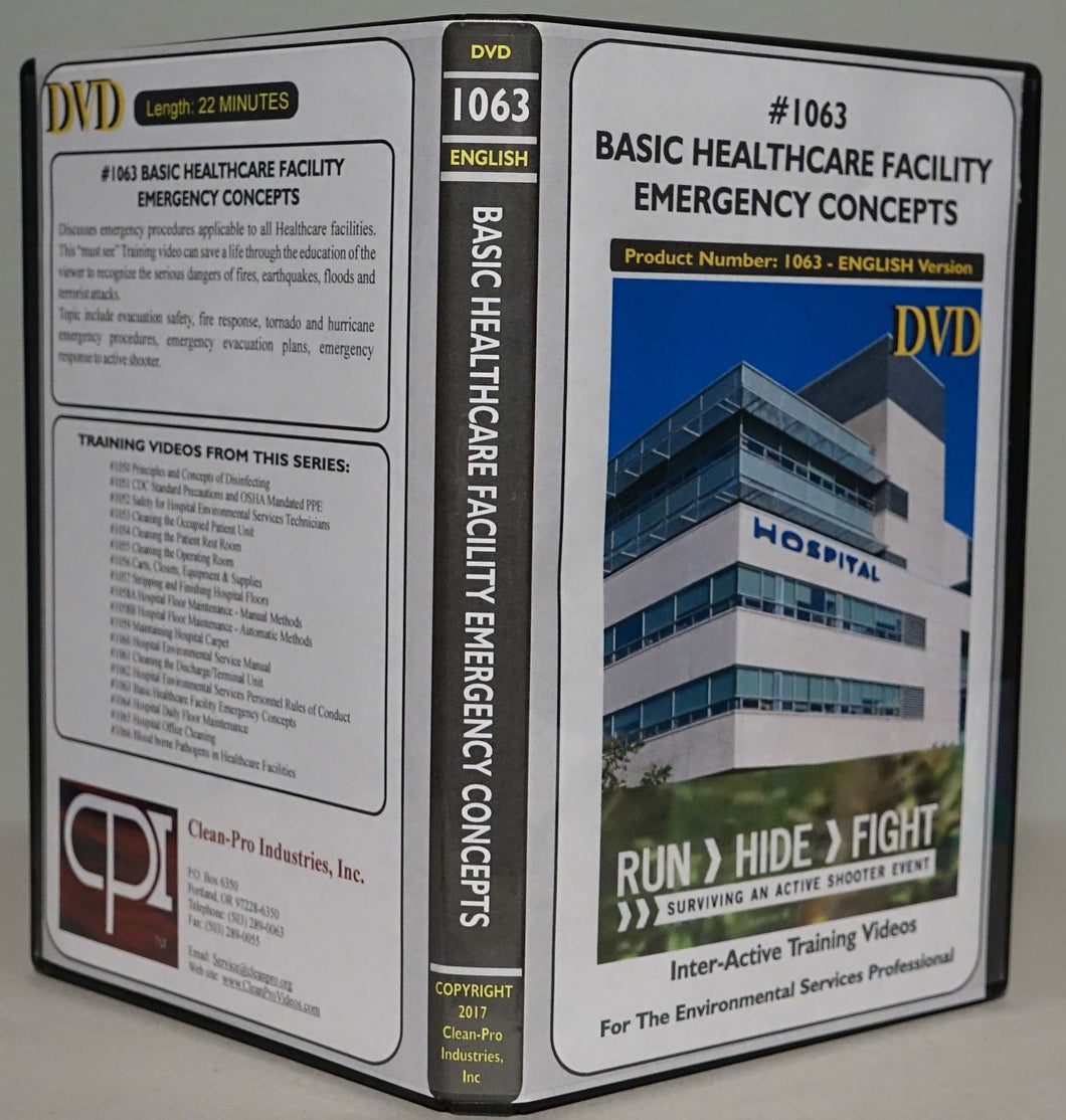 1063 Basic Healthcare Facility Emergency Concepts