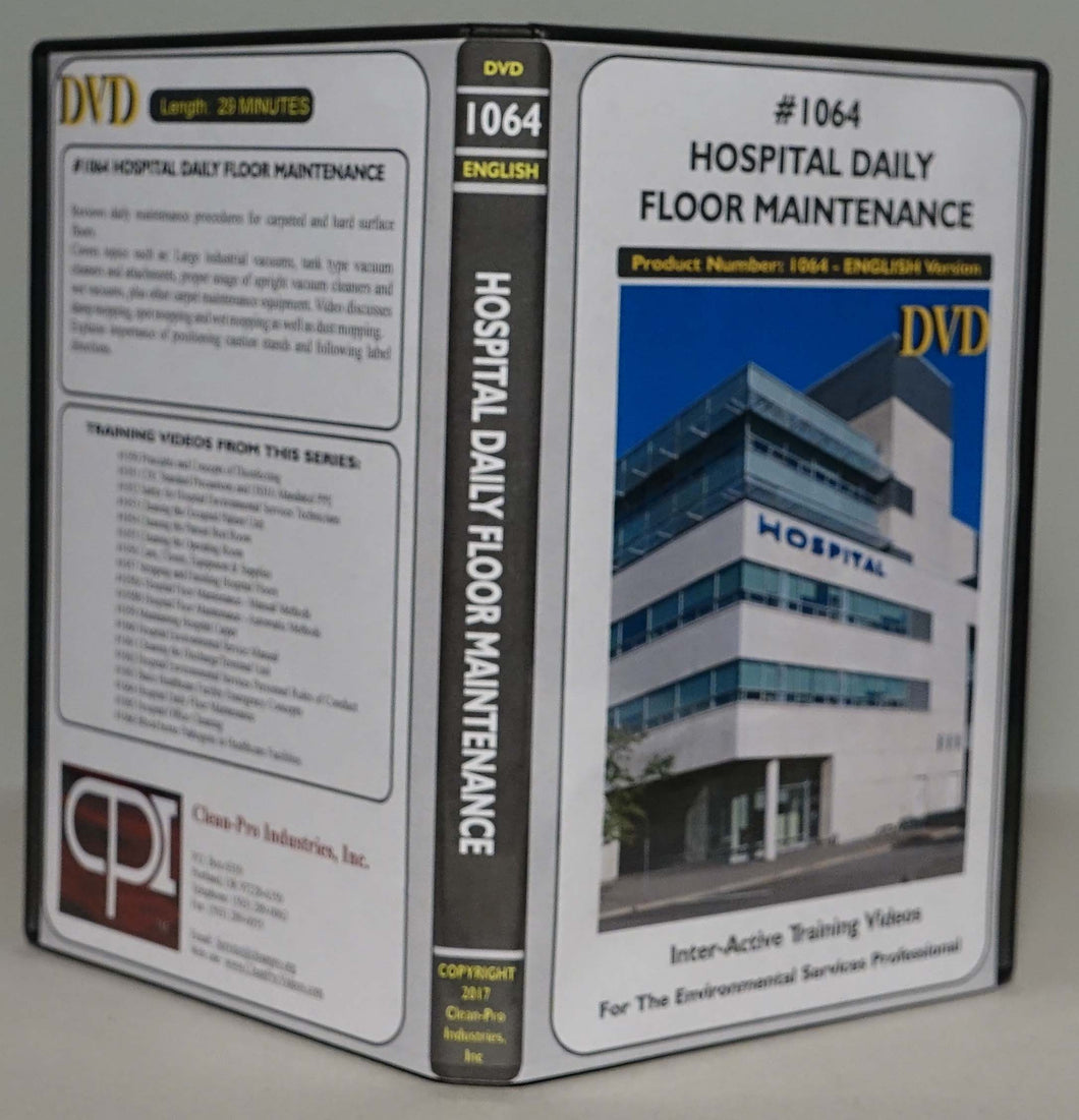 1064 Hospital Daily Floor Maintenance