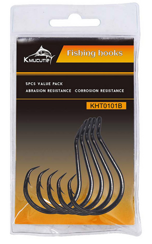 KMUCUTIE Circle Hooks (Options from 6/0 to 8/0) - 5 Pack