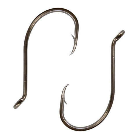 Two Offset needle point J hooks