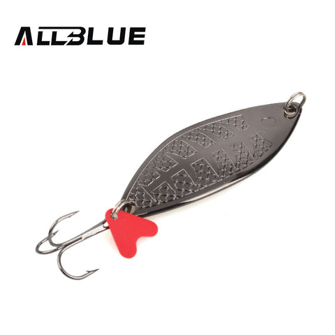 Full view of a single ALLBLUE medium Flutter spon lure