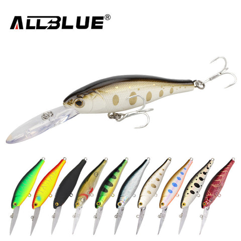 Multiple Mini Diving Minnow Fishing Lures ALLBLUE
