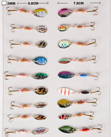 All the small spoons/spinner lures included