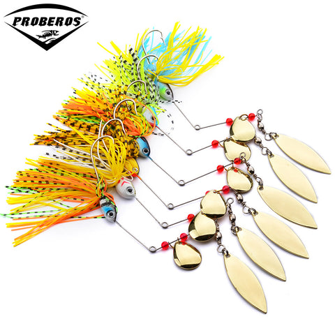 Multiple flutter spinner lures