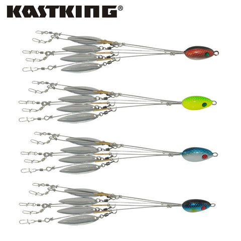 Four bait ball spinner lures