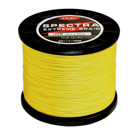 SPECTRA Yellow Extreme Braid (10lb/4.5kg to 80lb/36.3kg) - 500m/547yds