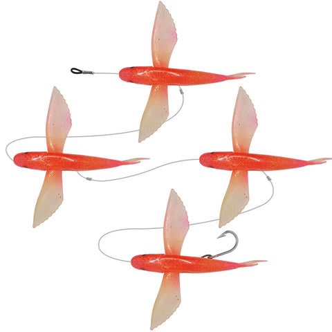 20cm Flying Fishing Marlin Teaser (2 Color Options) - 4 Pack