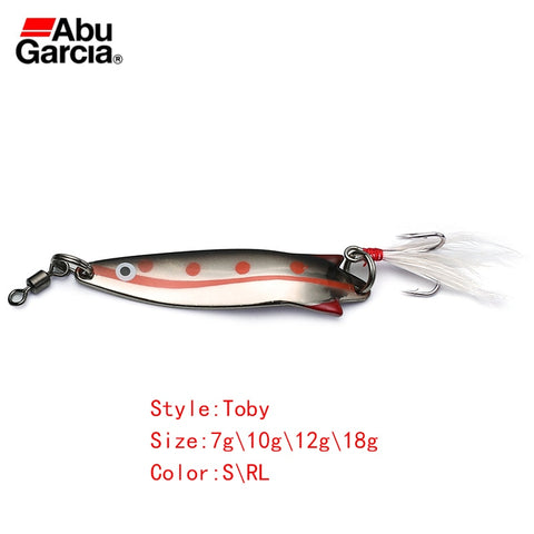 Abu Garcia Brand  Silver Red Color Spoon Fishing Lure