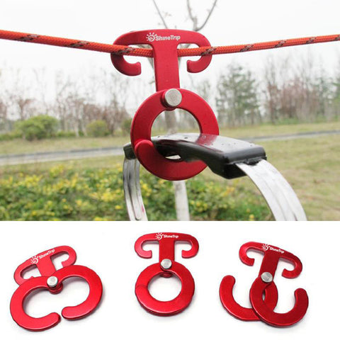 ALUMINUM TENT ROPE HANGER FOR CAMP GEAR - 4 PCS | Go Outside & Play