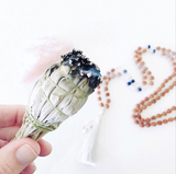 Clearing sage smudging mala beads