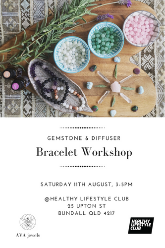 Gemstone + Diffuser Bracelet Workshop - 11th August, 3-5pm