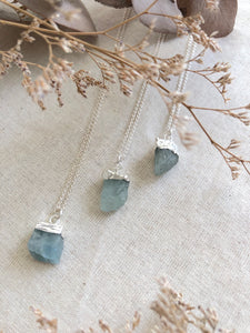 Dive Deep | Raw Aquamarine Necklace
