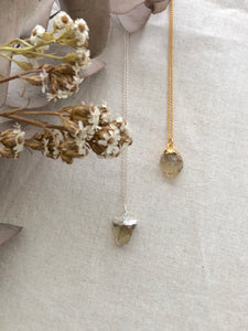 Sunshine | Raw Citrine Necklace