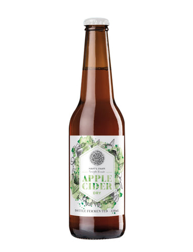 Apple Cider - Dry Bottle Fermented 330 ml -CASE (24 bottles) Silver Medal Australian Cider Awards 2018