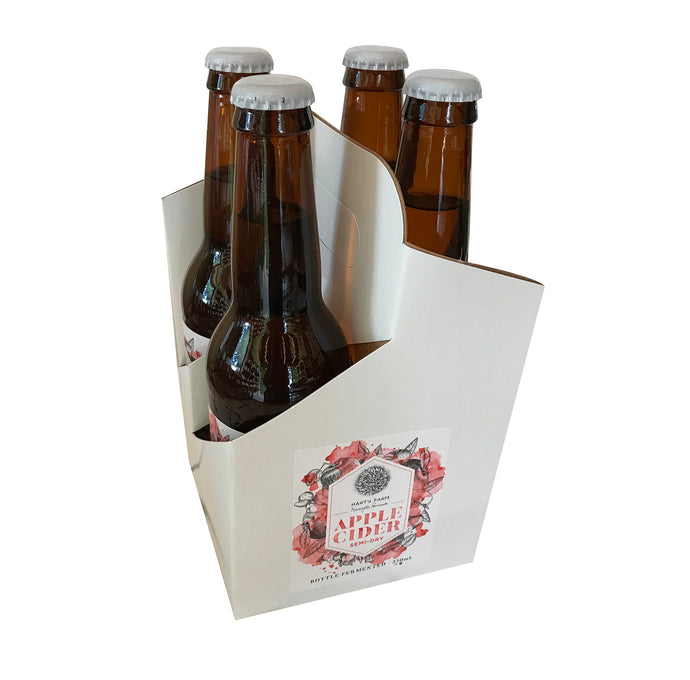 Apple Cider - Semi-Dry Bottle Fermented 330 ml -4 pack