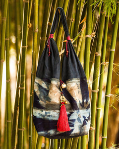 Thai Indigo Hand Dyed Shoulder Bag