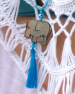 Elephant Blue Necklace
